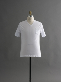 GICIPI | 1705P Blanco マーセライズコットンVネックTシャツの商品画像