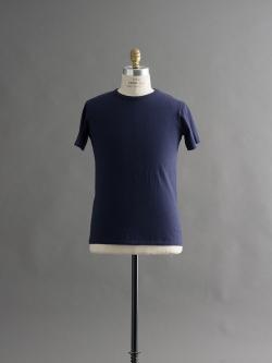 FilMelange | DIZZ Navy Melange 半袖クルーネックTシャツの商品画像