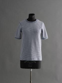 SUNSPEL | COTTON WAFFLE T-SHIRT Masonry Blue / Archive White コットンワッフルクルーネックTシャツの商品画像