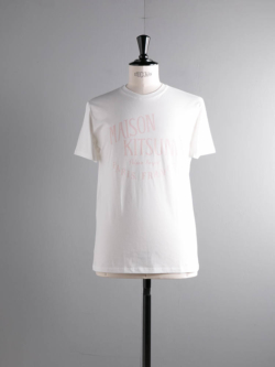 MAISON KITSUNE | R-NECK TEE SHIRT PRINT PALAIS ROYAL White 半袖プリントTシャツの商品画像