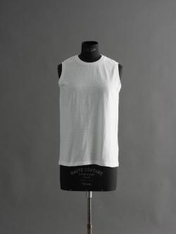 FilMelange   ELENI White 天竺ノースリーブTシャツの商品画像