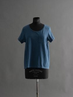 FilMelange | ANNIE Denim Blue Melange 半袖クルーネックTシャツの商品画像