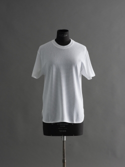 SUNSPEL | CELLULAR COTTON T-SHIRT white セルラーワープクルーネックTシャツの商品画像