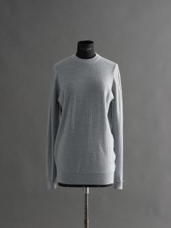 JOHN SMEDLEY | TILDA Bardot Grey ウールシルククルーネックニットの商品画像