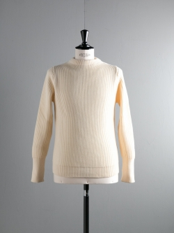 ANDERSEN-ANDERSEN | THE NAVY-CREW NECK Off White 5Gクルーネックニットの商品画像