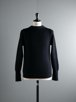 ANDERSEN-ANDERSEN | THE NAVY-CREW NECK Blue 5Gクルーネックニットの商品画像