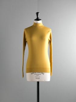 JOHN SMEDLEY   MADELAINE Loren Yellow ウールモックネックニットの商品画像
