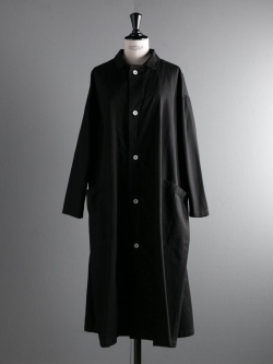YARMO | LAB COAT BRITISH COTTON TWILL Black コットンオーバーサイズコート