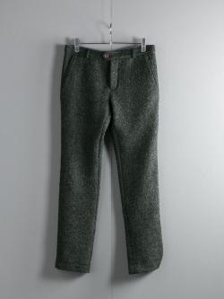 FRANK LEDER | GREEN WEAVE WOOL PANT 48 バスケットウィーブウールスラックスの商品画像
