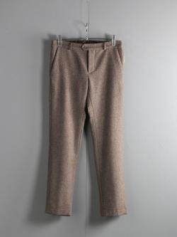 FRANK LEDER | LIGHT BROWN WOOL PANT 84 サイドマチ付きウールスラックスの商品画像