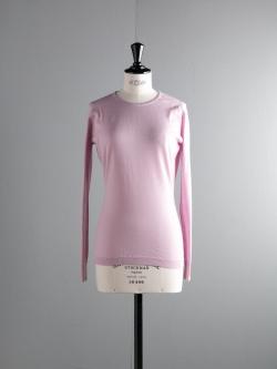 JOHN SMEDLEY | PAVILLION Rose Quartz ウールクルーネックニットの商品画像
