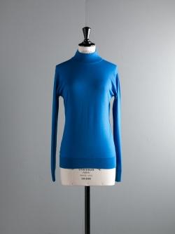 JOHN SMEDLEY | MADELAINE Lapis Blue ウールモックネックニットの商品画像