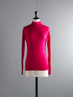 JOHN SMEDLEY | MADELAINE Hayworth Pink ウールモックネックニットの商品画像