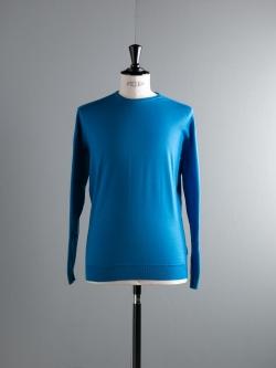 JOHN SMEDLEY | WAST Alpine Blue ウールクルーネックニットの商品画像