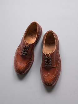 Tricker's | BOURTON COUNTRY SHOE Marron Antique ダービーブローグシューズの商品画像