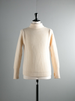 THE NAVY-TURTLENECK Off White