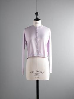 JOHN SMEDLEY | BOWES Keeling Pink コットンクルーネックカーディガンの商品画像