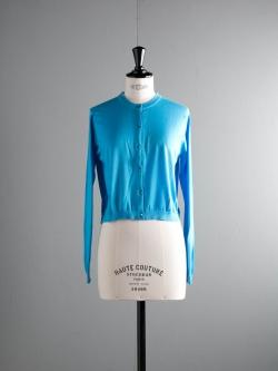 JOHN SMEDLEY | BOWES Sebastian Blue コットンクルーネックカーディガンの商品画像
