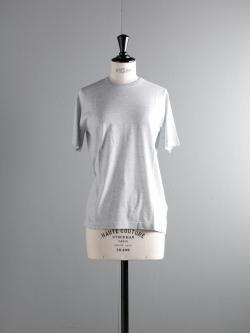 JOHN SMEDLEY | LINA Feather Grey コットン半袖クルーネックニットの商品画像