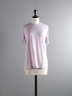 JOHN SMEDLEY | LINA Keeling Pink コットン半袖クルーネックニットの商品画像
