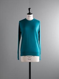 JOHN SMEDLEY | PATSY Skyline Blue コットンカシミアクルーネックニットの商品画像