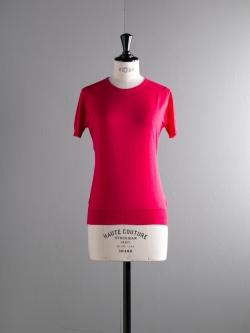 JOHN SMEDLEY | DANIELLA Scarlet Sky コットン半袖クルーネックニットの商品画像