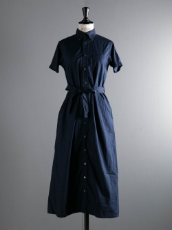 FWK by ENGINEERED GARMENTS | BD SHIRT DRESS – SUPERFINE POPLIN Dk. Navy ボタンダウンシャツドレスの商品画像
