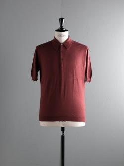 JOHN SMEDLEY | WHITWORTH Driftwood コットン半袖ポロシャツの商品画像