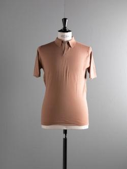 JOHN SMEDLEY | OUTRAM Cammello コットン半袖スキッパーポロシャツの商品画像