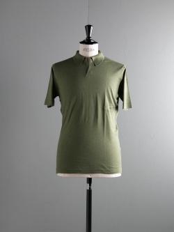 JOHN SMEDLEY | OUTRAM Tyrolean Green コットン半袖スキッパーポロシャツの商品画像