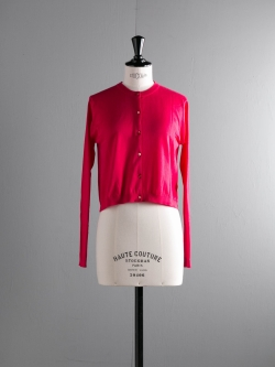 JOHN SMEDLEY   BOWES Scarlet Sky コットンクルーネックカーディガンの商品画像