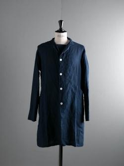 AULICO | SHOP COAT Navy 藍染めリネンコートの商品画像