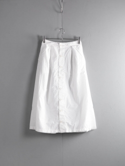 FWK by ENGINEERED GARMENTS | TUCK SKIRT – SUPERFINE POPLIN White タックスカート
