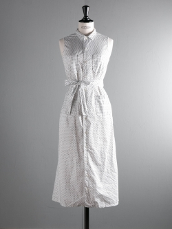 FWK by ENGINEERED GARMENTS | CLASSIC SHIRT DRESS – BIG POLKA DOT LAWN White クラシックシャツドレス