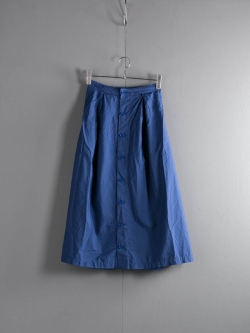 FWK by ENGINEERED GARMENTS | TUCK SKIRT – SUPERFINE POPLIN Dk. Blue タックスカート
