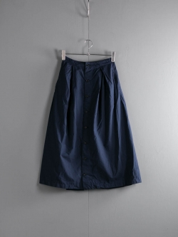 FWK by ENGINEERED GARMENTS | TUCK SKIRT – SUPERFINE POPLIN Dk. Navy タックスカート