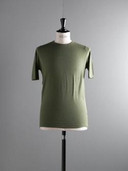 JOHN SMEDLEY | MONYASH Tyrolean Green コットン半袖クルーネックニットの商品画像