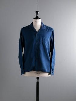 AULICO | OPEN COLLAR SHIRT Navy オープンカラーシャツの商品画像