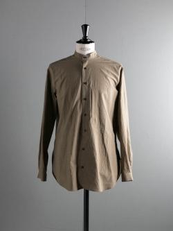 FRANK LEDER | TRIPLE WASHED THIN COTTON BOHEMIA SHIRT Beige ボヘミアオールドスタイルシャツの商品画像