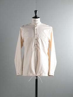 FRANK LEDER | VINTAGE BEDSHEET SHIRT TOP Natural ベッドリネンドローストリングシャツの商品画像