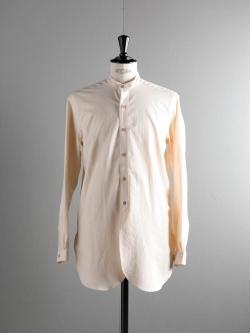 FRANK LEDER | VINTAGE BEDSHEET S.C SHIRT Natural ベッドリネンスタンドカラーシャツの商品画像