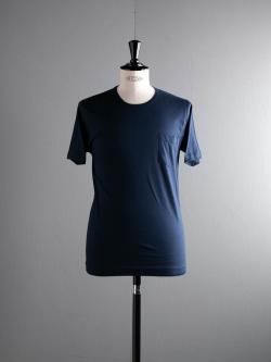GICIPI | 1804P Blu Navy マーセライズコットンクルーネックTシャツの商品画像