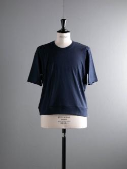 GICIPI | 1802P Blu Navy リブ編みリラックスフィットTシャツの商品画像