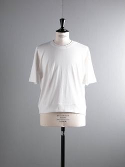 GICIPI | 1802P Bianco リブ編みビッグシルエット半袖Tシャツ