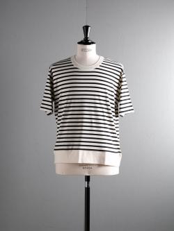 GICIPI | 1801PRS Nat/Nero ビッグシルエットボーダーTシャツ