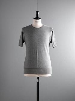 GICIPI | 1807P Nat/Nero 鹿の子編みクルーネックTシャツの商品画像