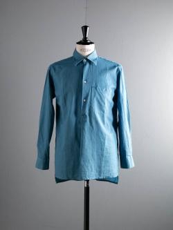 KIDUR | CHEMISE GRANDPERE Pastel Bleu リネンコットングランパシャツの商品画像