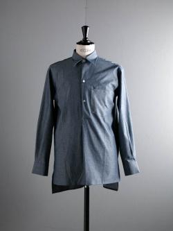 KIDUR | CHEMISE GRANDPERE Indigo Chambray コットンシャンブレーグランパシャツの商品画像