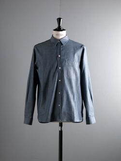 KIDUR | CLASSIC WORKING SHIRTS Indigo Chambray コットンシャンブレーワークシャツの商品画像