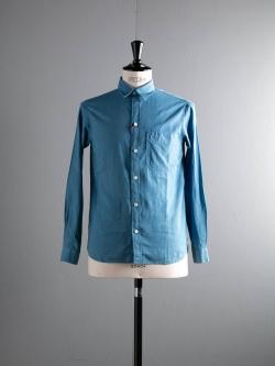 KIDUR | CLASSIC WORKING SHIRTS Pastel Bleu リネンコットンワークシャツの商品画像